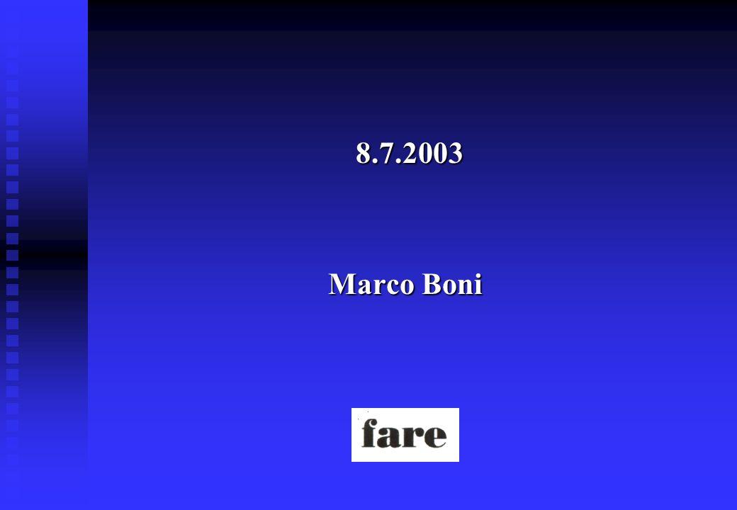 8.7.2003 8.7.2003 Marco Boni