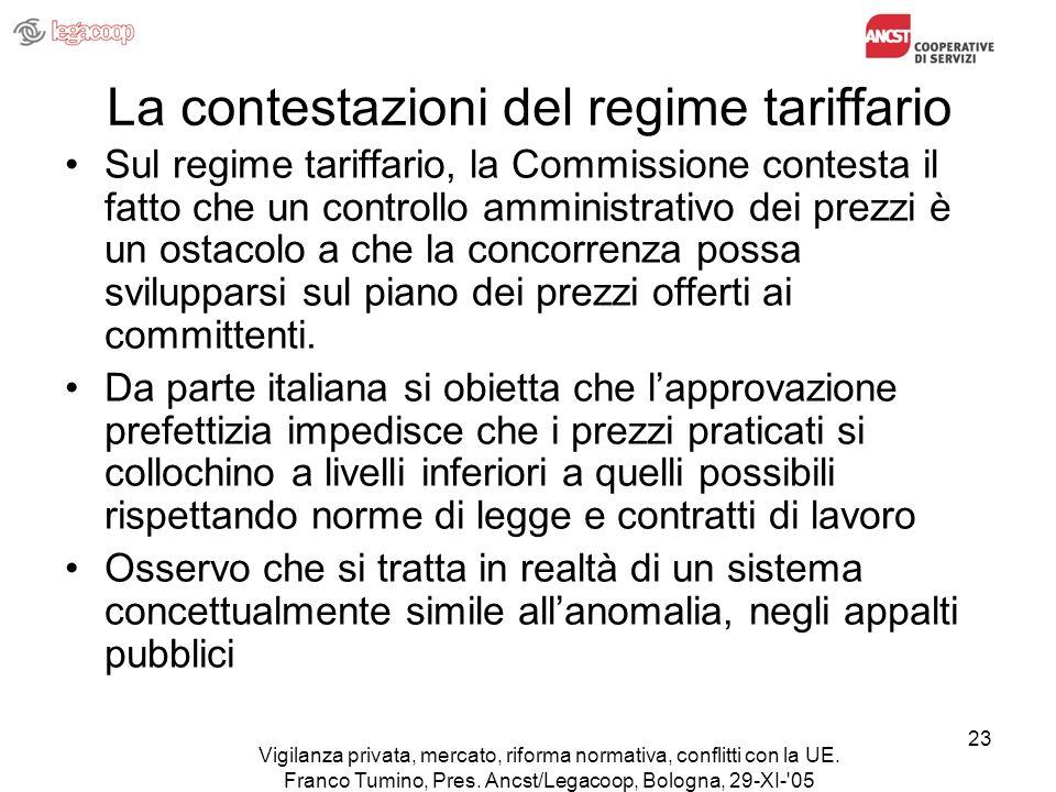Vigilanza privata, mercato, riforma normativa, conflitti con la UE.