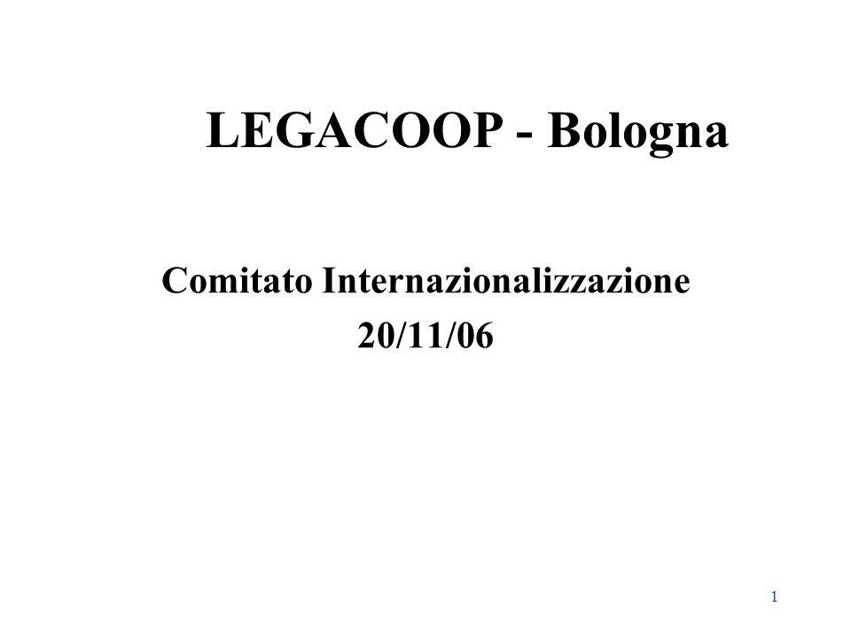 1 LEGACOOP - Bologna Comitato Internazionalizzazione 20/11/06
