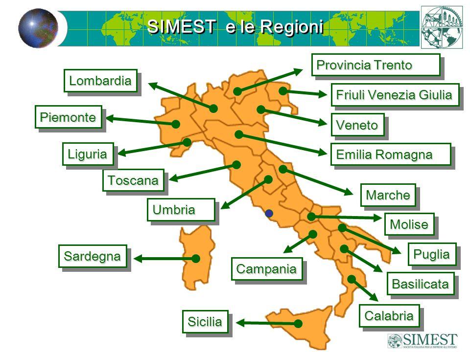 PiemontePiemonte LombardiaLombardia Emilia Romagna MarcheMarche CampaniaCampania SardegnaSardegna ToscanaToscana Friuli Venezia Giulia Provincia Trent