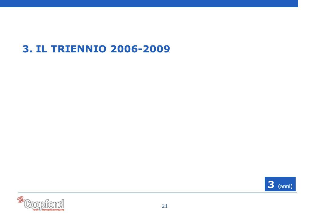 21 3. IL TRIENNIO 2006-2009 3 (anni)