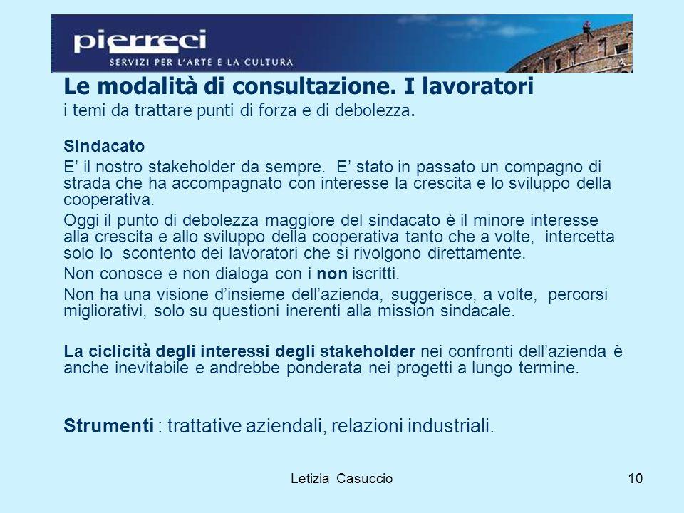 Letizia Casuccio10 Le modalità di consultazione.