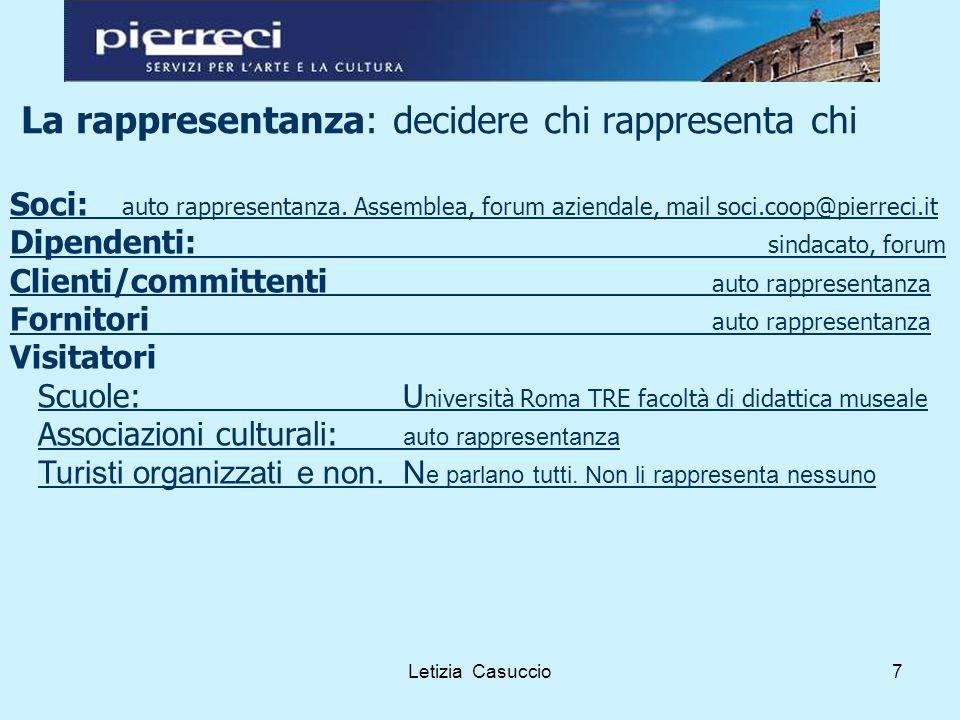 Letizia Casuccio8 Le modalità di consultazione.La scuola.