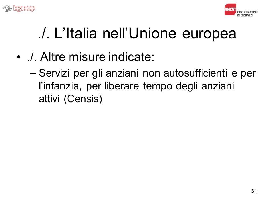 31./. LItalia nellUnione europea./.