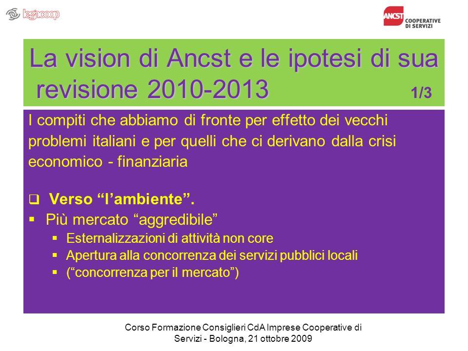La vision di Ancst e le ipotesi di sua revisione 2010-2013 La vision di Ancst e le ipotesi di sua revisione 2010-2013 1/3 I compiti che abbiamo di fro
