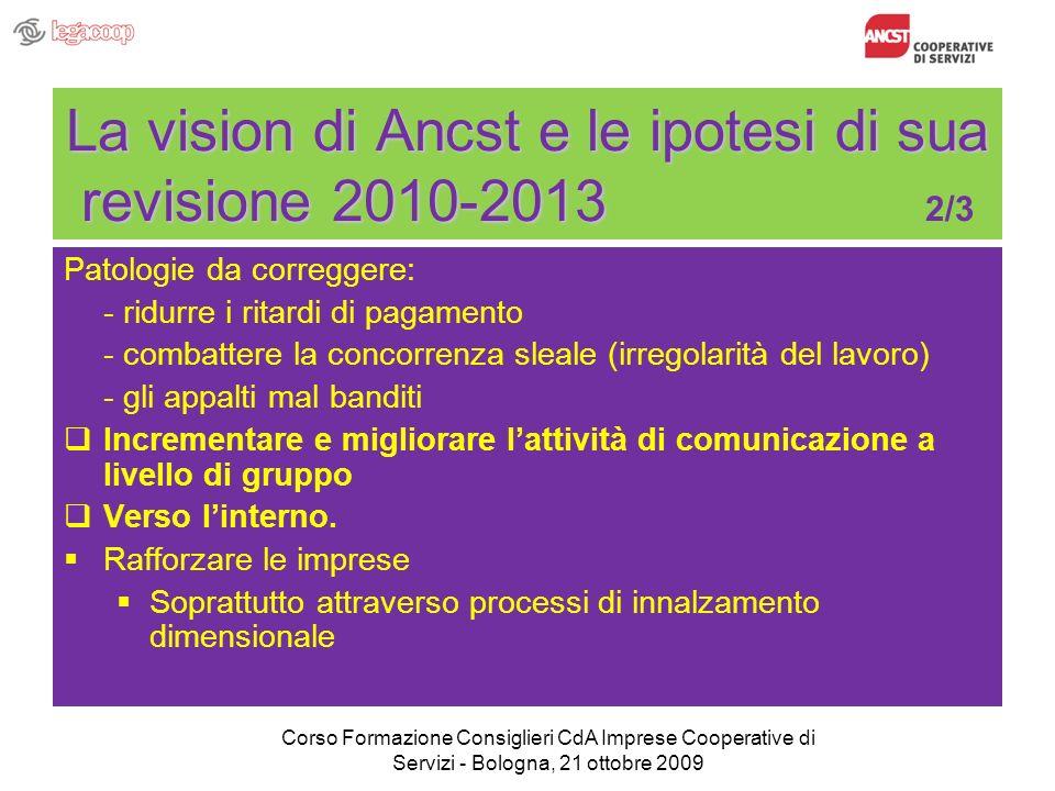 La vision di Ancst e le ipotesi di sua revisione 2010-2013 La vision di Ancst e le ipotesi di sua revisione 2010-2013 2/3 Patologie da correggere: - r