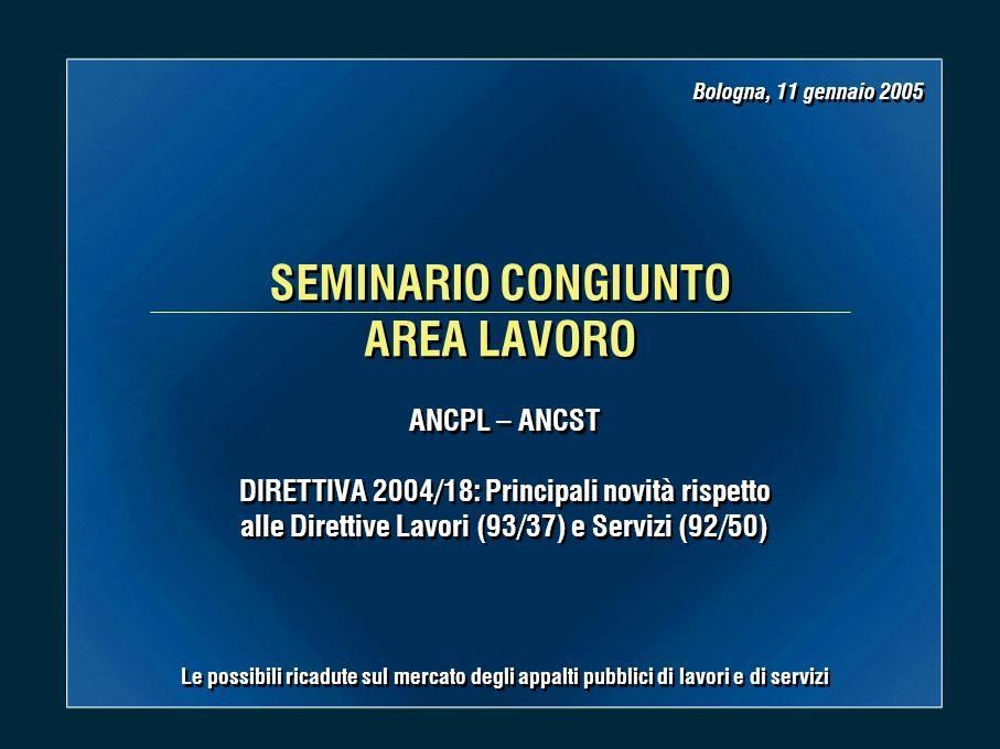 Bologna, 11 gennaio 2005 Dott.Claudio Rangone 2 2 I.