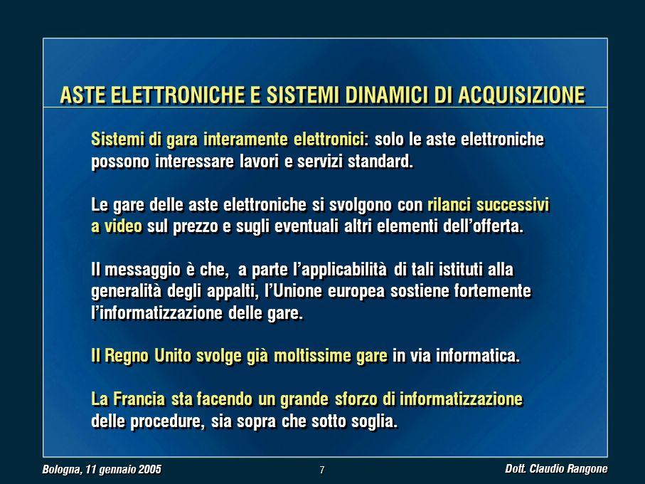 Bologna, 11 gennaio 2005 Dott.
