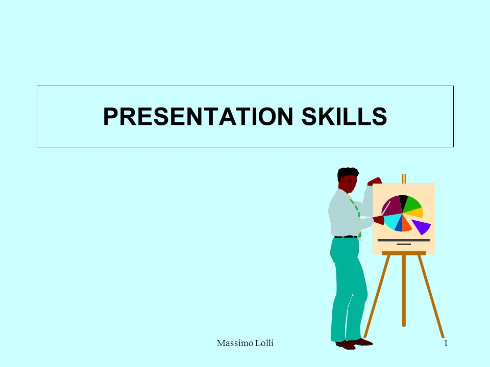 Massimo Lolli1 PRESENTATION SKILLS