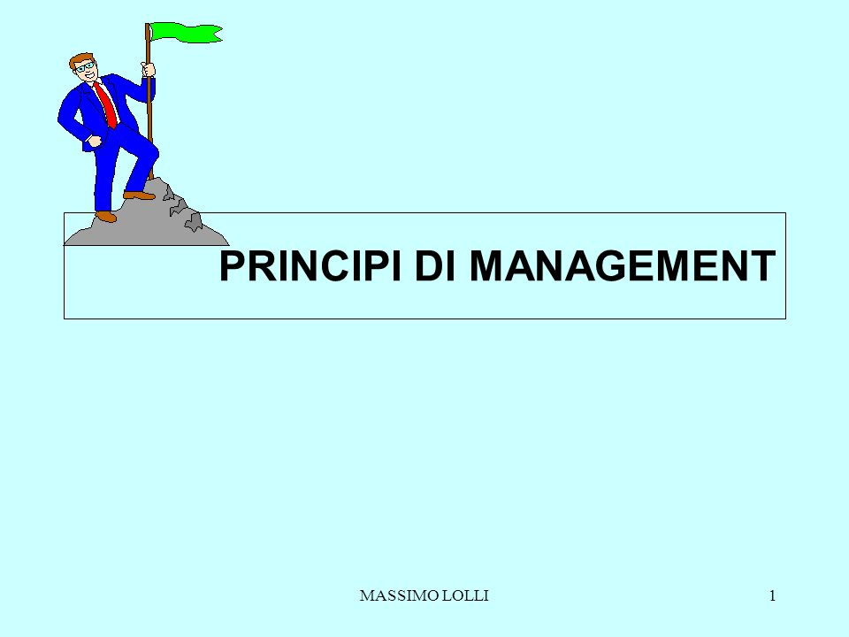 MASSIMO LOLLI1 PRINCIPI DI MANAGEMENT