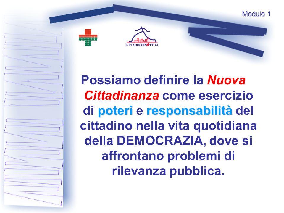 poteriresponsabilità Possiamo definire la Nuova Cittadinanza come esercizio di poteri e responsabilità del cittadino nella vita quotidiana della DEMOCRAZIA, dove si affrontano problemi di rilevanza pubblica.