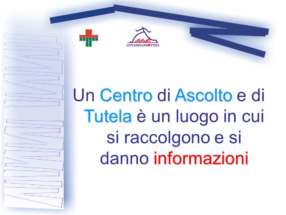 CentroAscolto Tutela informazioni Un Centro di Ascolto e di Tutela è un luogo in cui si raccolgono e si danno informazioni
