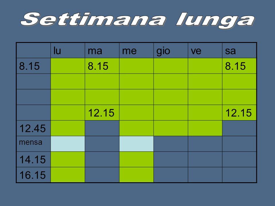 lumamegiovesa 8.15 12.15 12.45 mensa 14.15 16.15