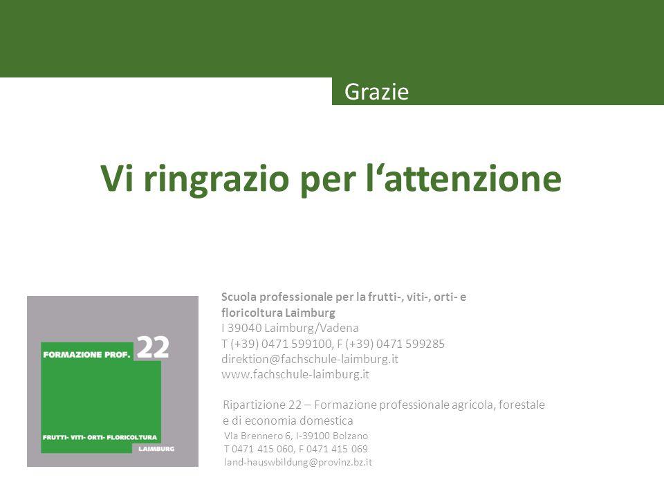Via Brennero 6, I-39100 Bolzano T 0471 415 060, F 0471 415 069 land-hauswbildung@provinz.bz.it Ripartizione 22 – Formazione professionale agricola, fo