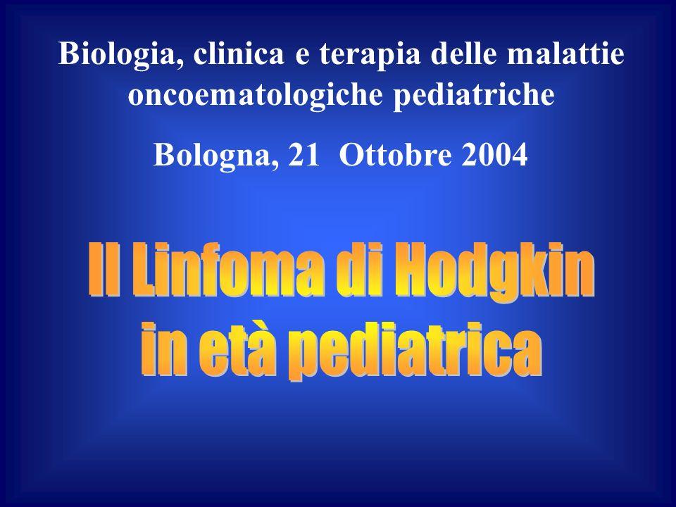Biologia, clinica e terapia delle malattie oncoematologiche pediatriche Bologna, 21 Ottobre 2004