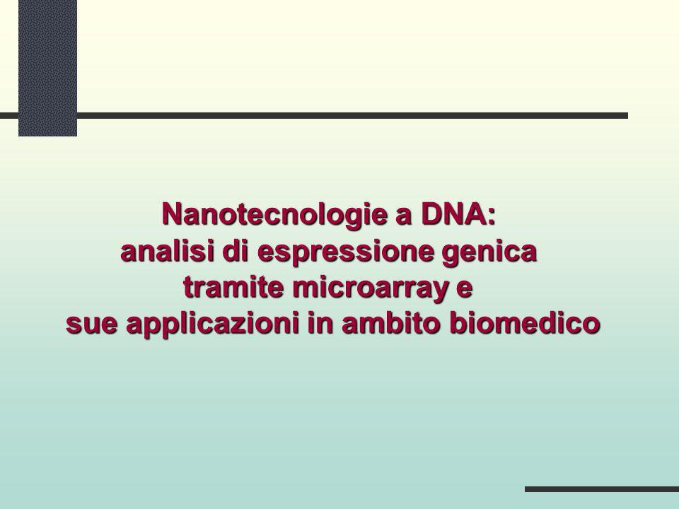 Nanotecnologie a DNA: analisi di espressione genica tramite microarray e sue applicazioni in ambito biomedico