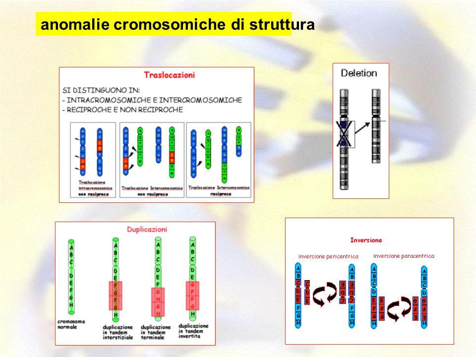anomalie cromosomiche di struttura
