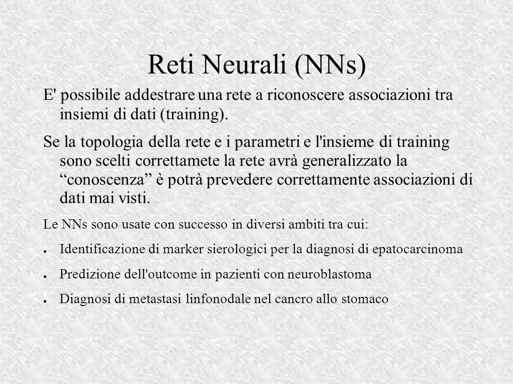 Reti Neurali (NNs) E possibile addestrare una rete a riconoscere associazioni tra insiemi di dati (training).