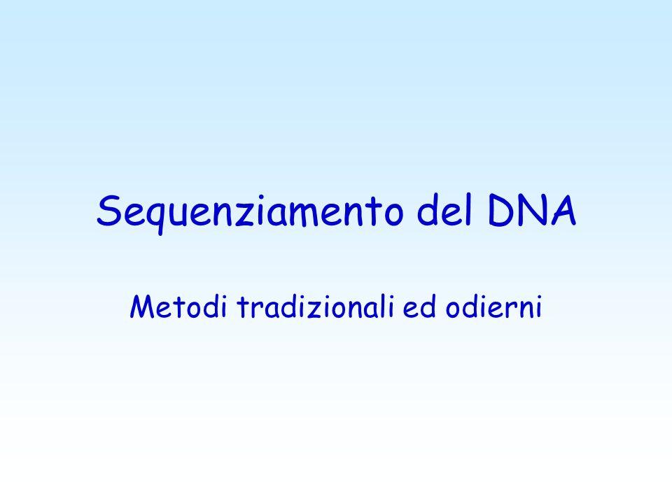 Sequenziamento del DNA Metodi tradizionali ed odierni
