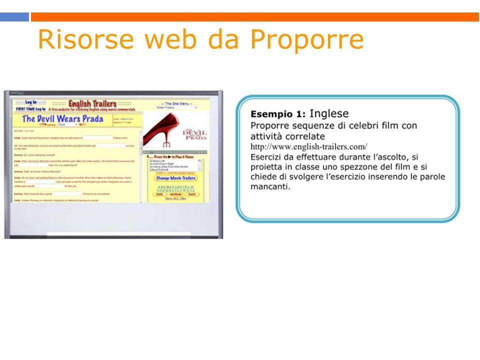 Risorse web da Proporre