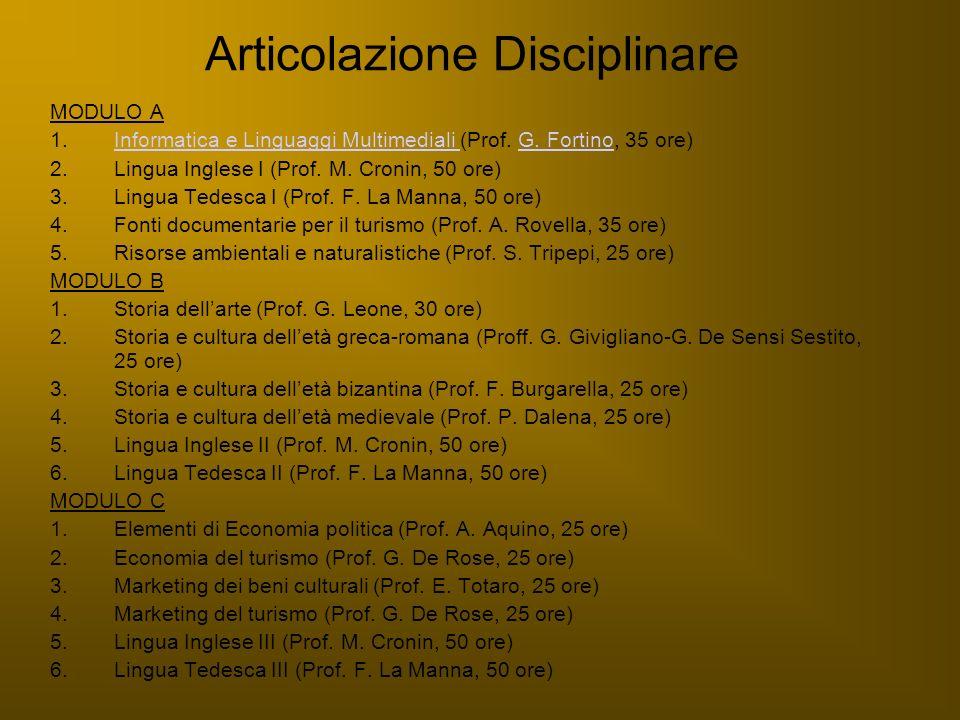 Articolazione Disciplinare MODULO A 1.Informatica e Linguaggi Multimediali (Prof. G. Fortino, 35 ore)Informatica e Linguaggi Multimediali G. Fortino 2