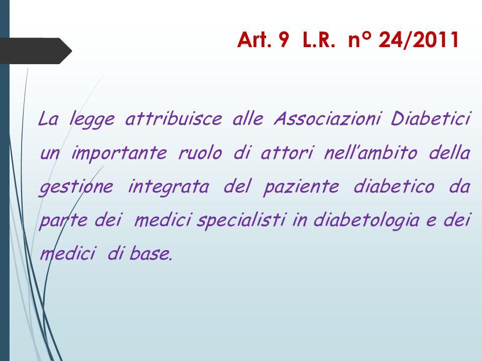 Il Progetto Diabetici Guida è un Progetto pilota che le Ass.
