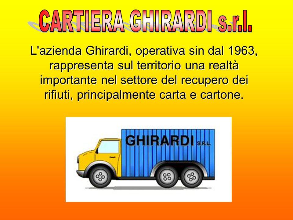 L azienda Ghirardi, operativa sin dal 1963, rappresenta sul territorio una realtà importante nel settore del recupero dei rifiuti, principalmente carta e cartone.