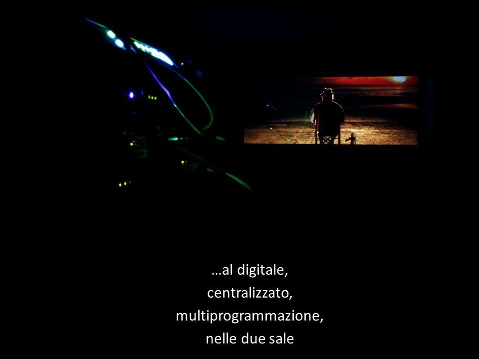 …al digitale, centralizzato, multiprogrammazione, nelle due sale