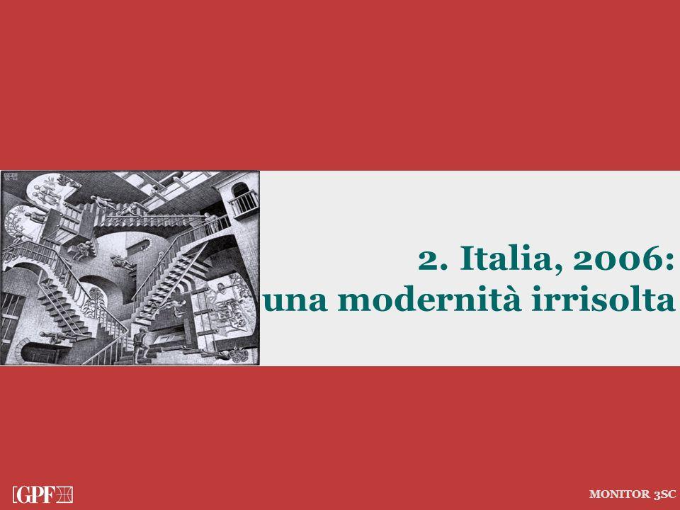 2. Italia, 2006: una modernità irrisolta MONITOR 3SC