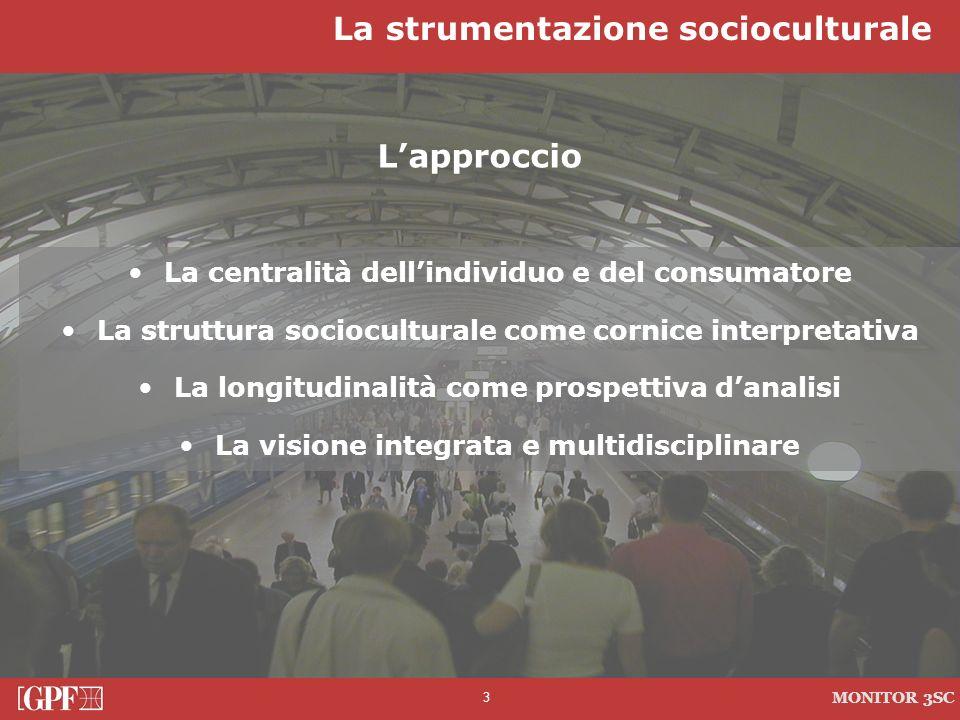3 Lapproccio La centralità dellindividuo e del consumatore La struttura socioculturale come cornice interpretativa La longitudinalità come prospettiva