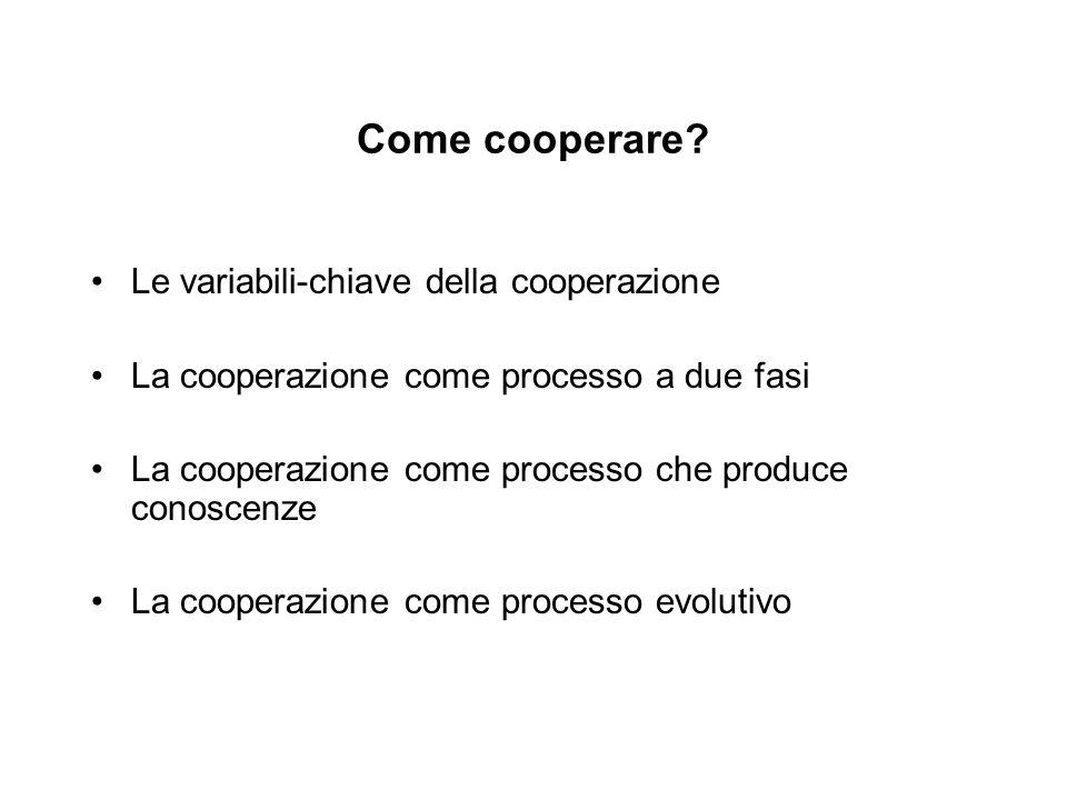 Come cooperare.