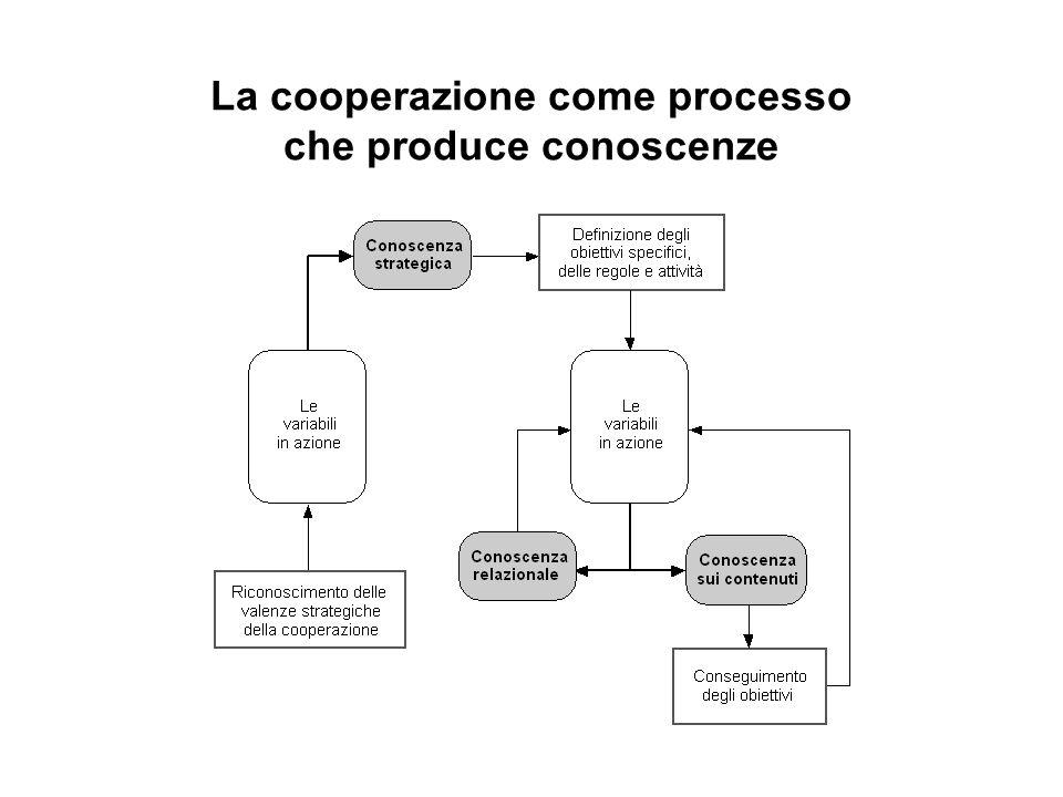 La cooperazione come processo che produce conoscenze