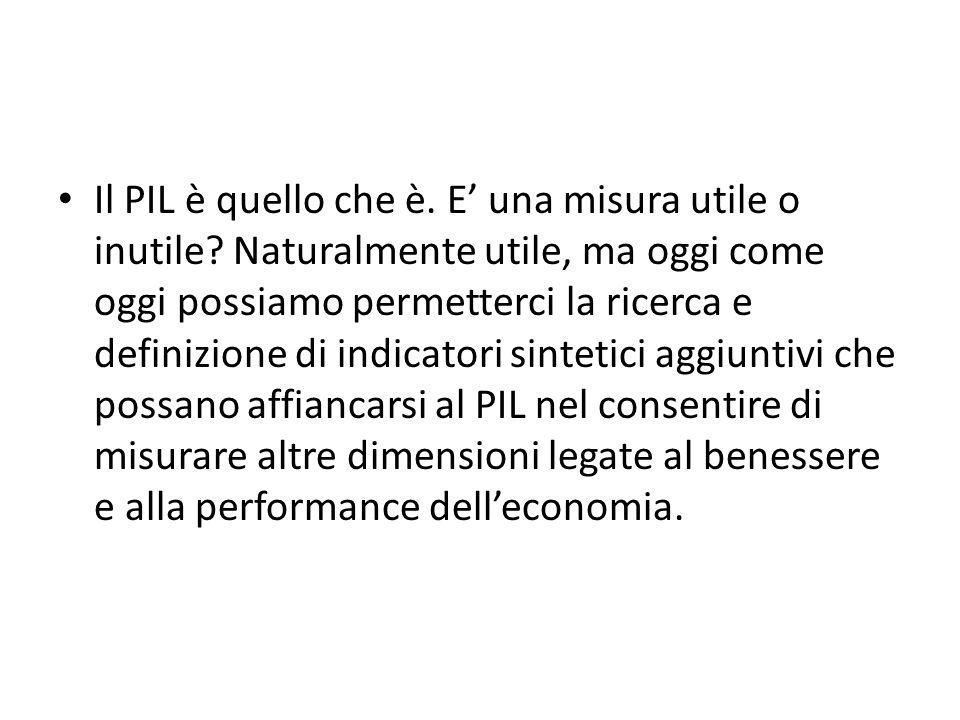 Il PIL è quello che è. E una misura utile o inutile.