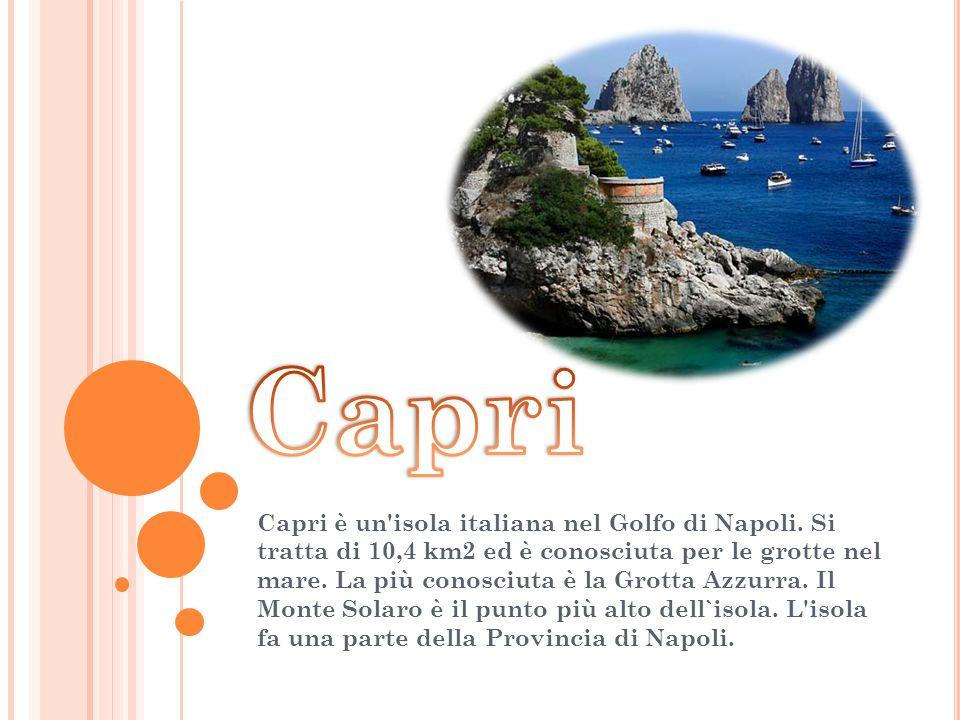 Capri è un isola italiana nel Golfo di Napoli.