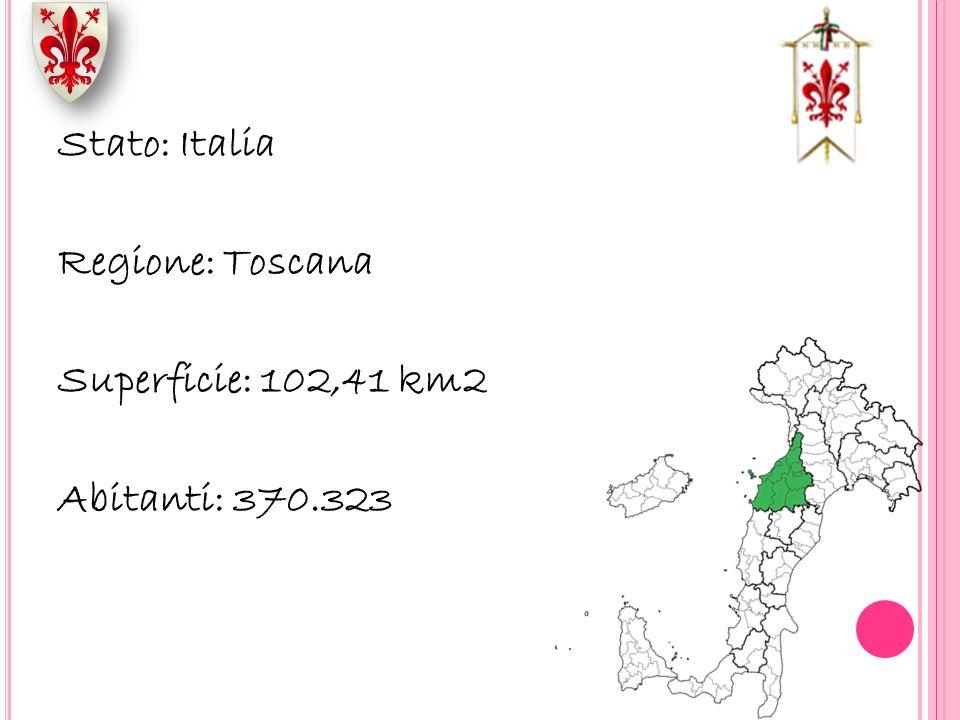 Stato: Italia Regione: Toscana Superficie: 102,41 km2 Abitanti: 370.323
