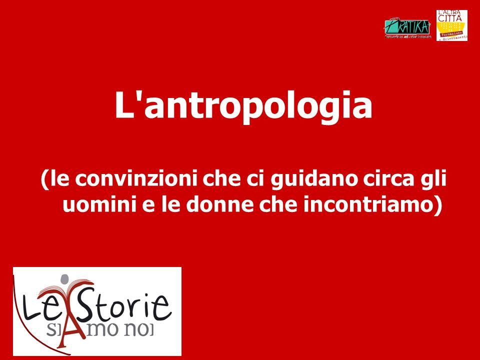 L'antropologia (le convinzioni che ci guidano circa gli uomini e le donne che incontriamo)