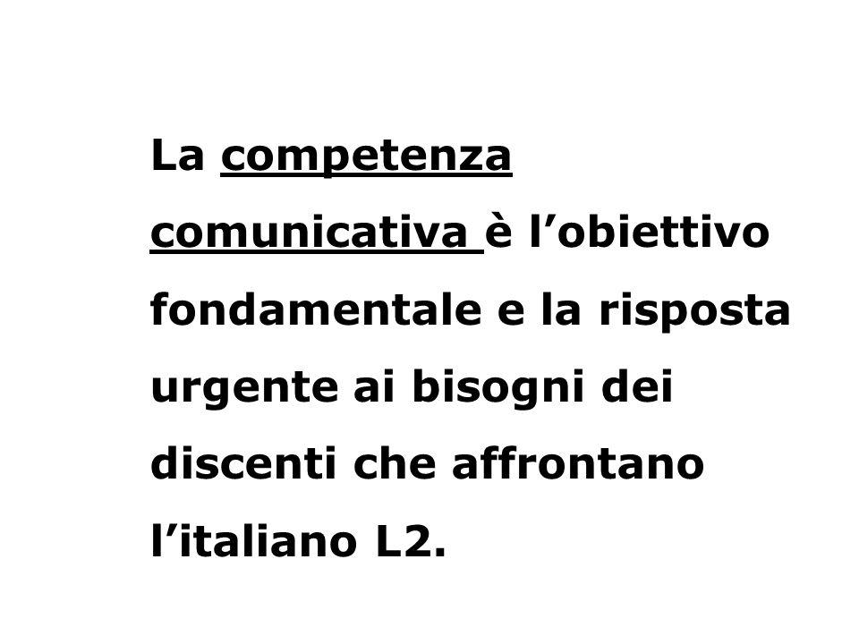 Per competenza comunicativa si intende allora la capacità di usare litaliano in modo corretto, appropriato al contesto e in maniera efficace.