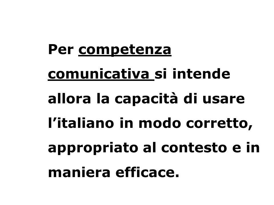 Secondo il Common European Framework of Reference for Languages, «la competenza comunicativa in lingua può essere considerata come comprendente le componenti linguistica, sociolinguistica e pragmatica».