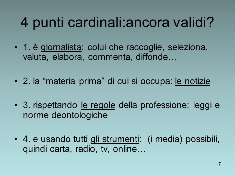 17 4 punti cardinali:ancora validi.1.