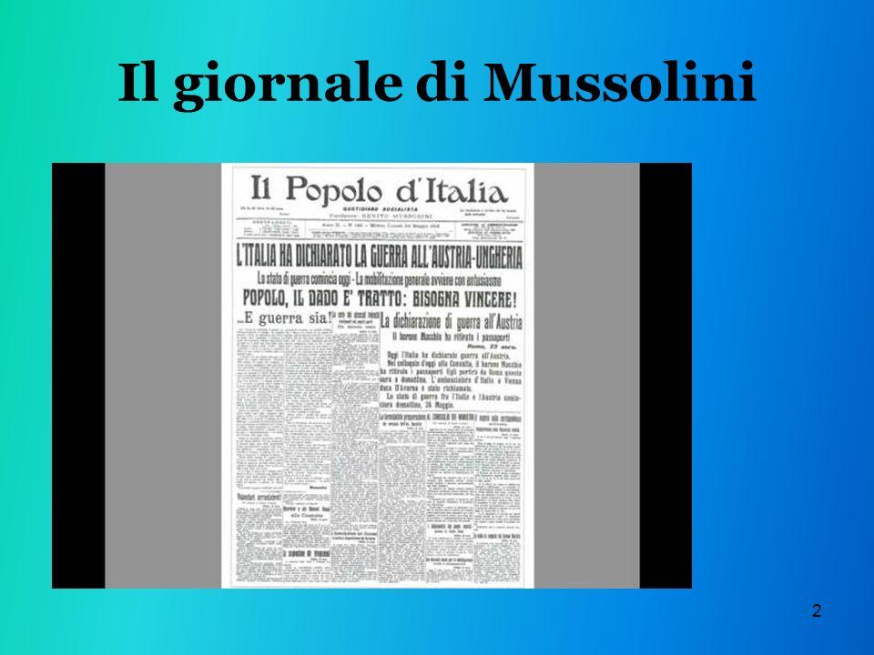2 Il giornale di Mussolini