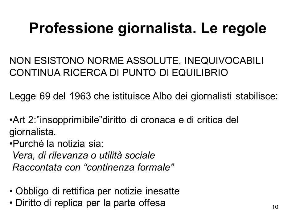 10 Professione giornalista.