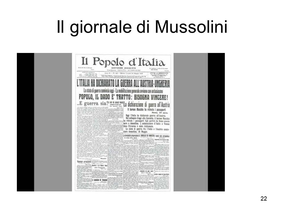 22 Il giornale di Mussolini