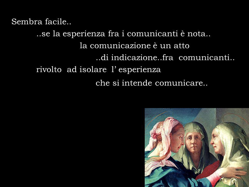 Sembra facile....se la esperienza fra i comunicanti è nota.. la comunicazione è un atto..di indicazione..fra comunicanti.. rivolto ad isolare l esperi