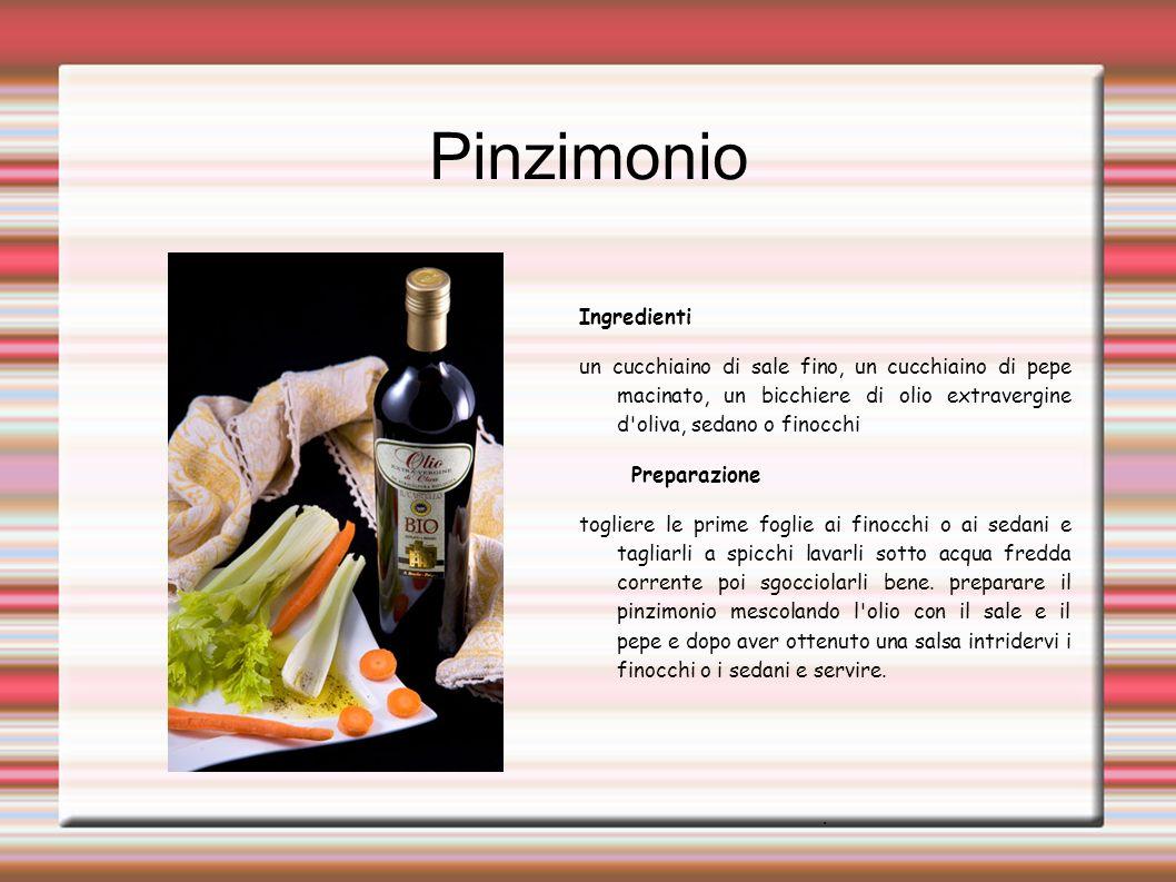 Pinzimonio Ingredienti un cucchiaino di sale fino, un cucchiaino di pepe macinato, un bicchiere di olio extravergine d'oliva, sedano o finocchi Prepar