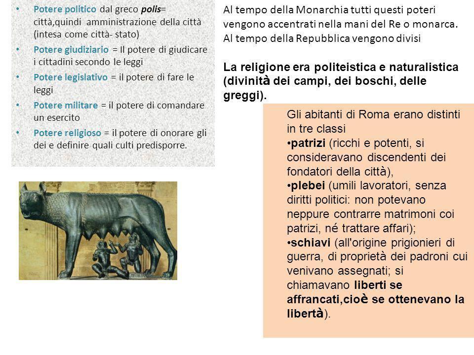 La nascita della repubblica e i contrasti tra plebei e patrizi Nel 509 a.C.