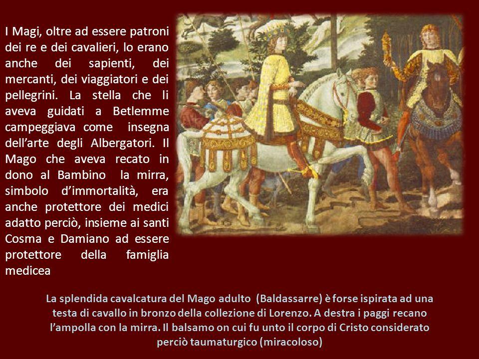 I Magi, oltre ad essere patroni dei re e dei cavalieri, lo erano anche dei sapienti, dei mercanti, dei viaggiatori e dei pellegrini. La stella che li