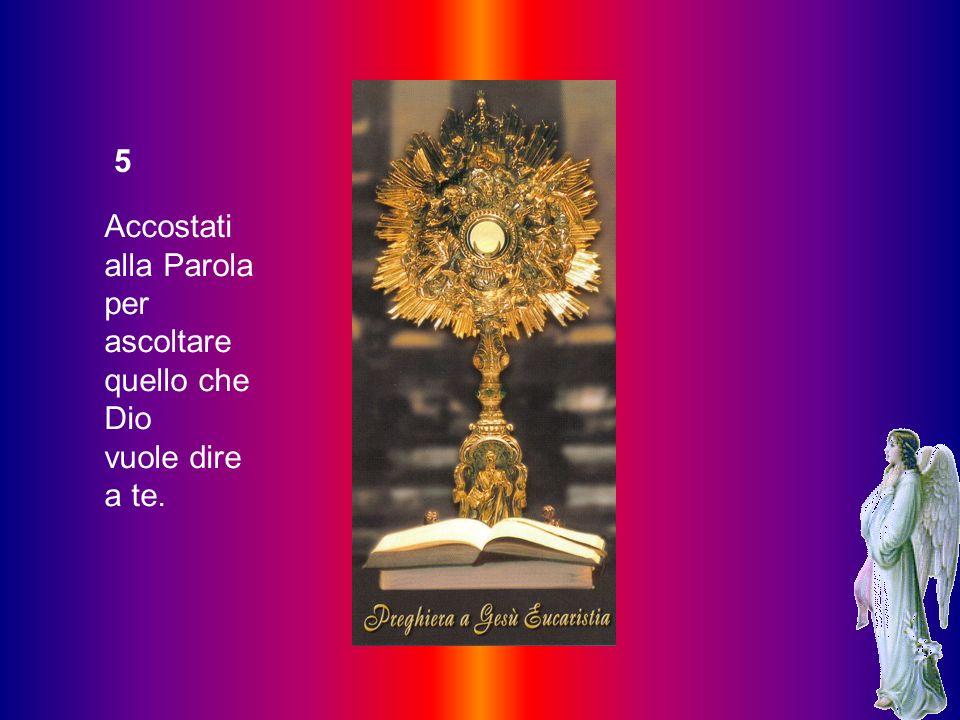 4 Prendi coscienza dei tuoi pensieri, per confrontare tutto con la Parola di Dio. dei tuoi sentimenti, di ciò che ti sta più a cuore,