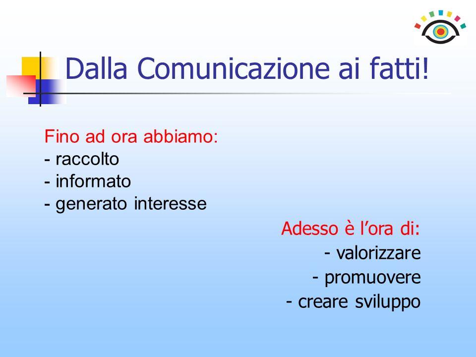 Dalla Comunicazione ai fatti.