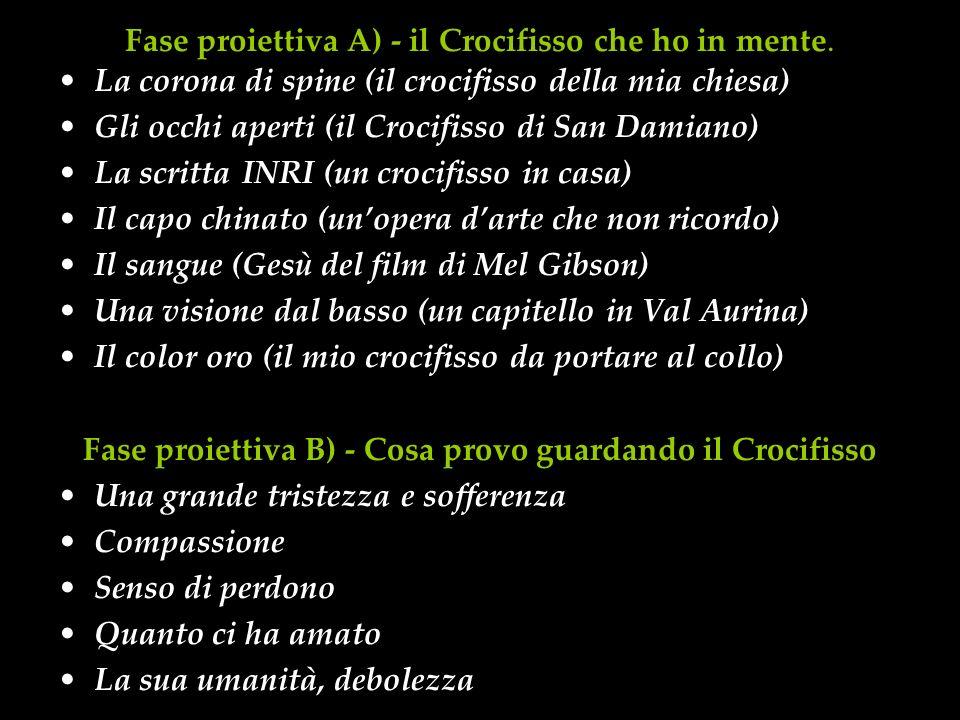 Fase proiettiva A) - il Crocifisso che ho in mente.