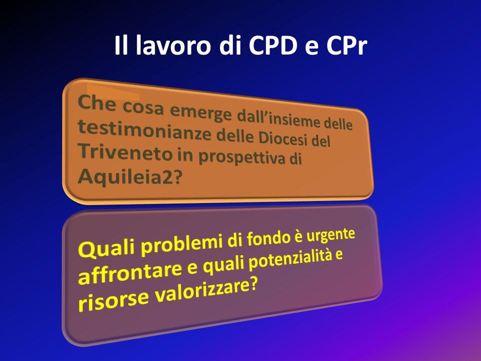 Il lavoro di CPD e CPr